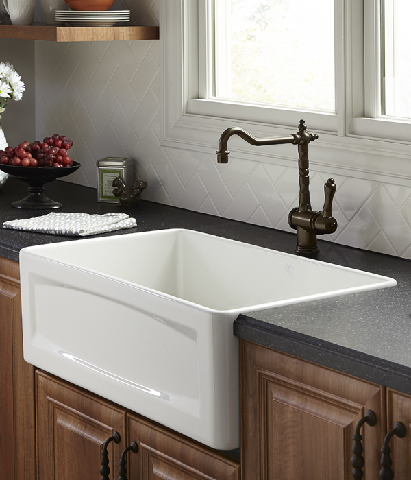 30 Inch Apron Front Sink : Kitchen Farm Sink - Orchard 30 inch wide Apron Kitchen Sink from DXV