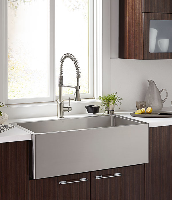 Kitchen Farm Sinks Orchard 36 Inch Wide Stainless Steel Kitchen Sink from DXV
